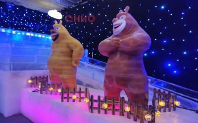 冰雕奇乐城堡 内江冰雕展供应商